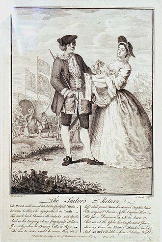 Louis Peter Boitard - The Sailor's Return, 1744.