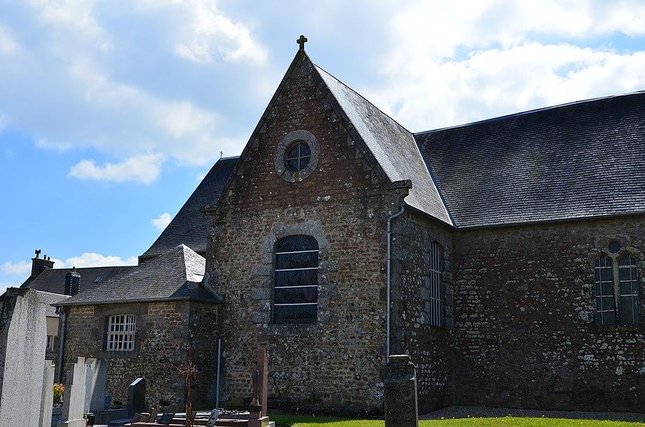 Transept de l'église Saint-Aubin de Saint-Aubin-des-Bois.