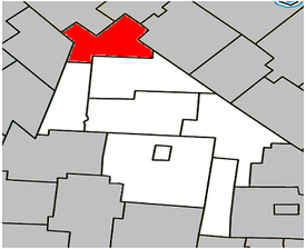 Location within Acton Regional County Municipality.