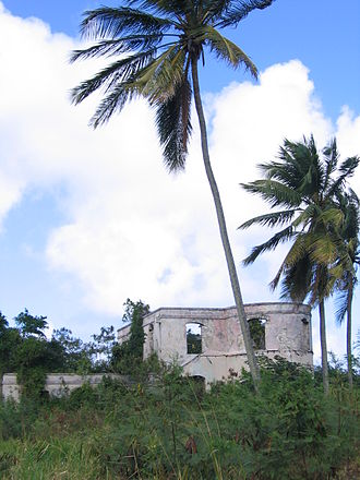 History of Barbados - Ruins of a plantation in Saint Lucy, Barbados.