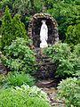 Saint Rose of Lima Church (New Lexington, Ohio) - exterior, Our Lady of Lourdes shrine.jpg