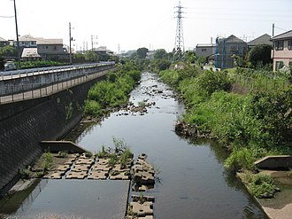 Sakai River (Tokyo, Kanagawa) - The Sakai River from the Negishi Bridge, Sagamihara, Kanagawa