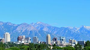 Downtown Salt Lake City - Downtown skyline, July 2011