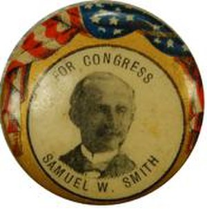 Samuel William Smith - Smith campaign button