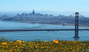 San Francisco from the Marin Headlands