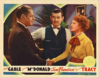 San Francisco (1936 film) - Lobby card