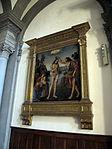 San domenico, fiesole, int., lorenzo di credi, battesimo di cristo.JPG