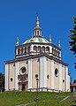 Santissimo Nome di Maria, Crespi d'Adda, from southwest.jpg