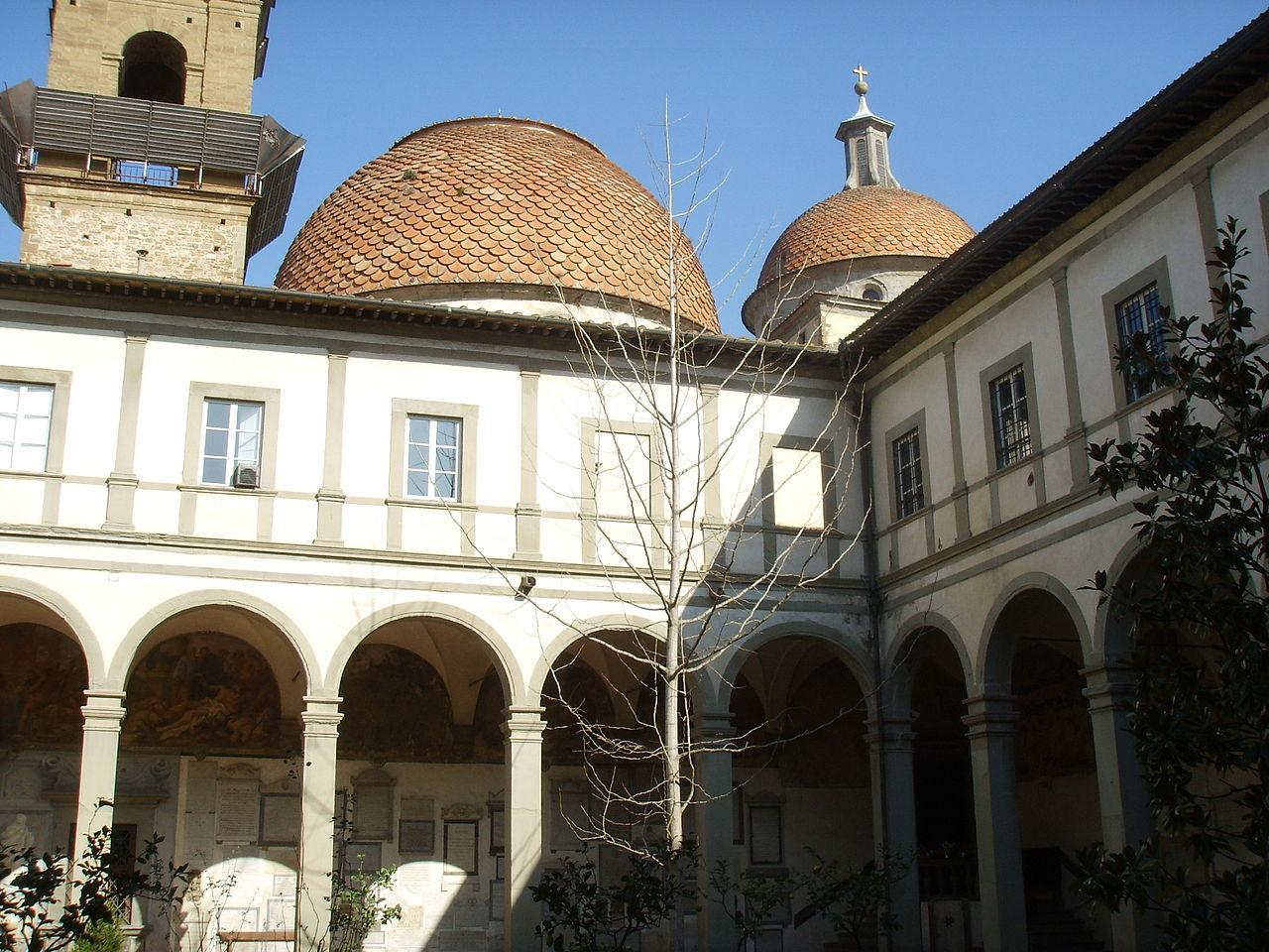 het Chiostro dei Morti, Santo Spirito, Firenze
