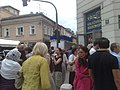 Sarajevans in funeral of 136 Srebrenica genocide victims July 2015 090720151607.jpg