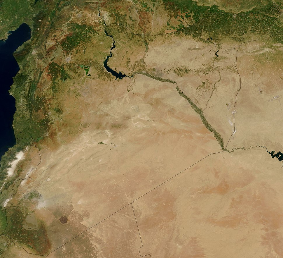 Satellite image of Syria in May 2003