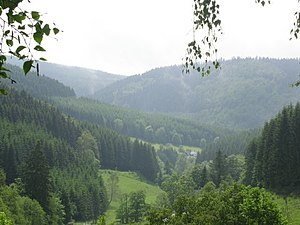 Westphalia - The Sauerland mountainous landscape.