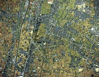 Aisai - Image: Saya district Aisai city Aerial photograph.1987