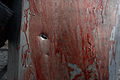 Schield covered with blood with a bullthole in it. Clashes in Kyiv, Ukraine. February 20, 2014.jpg