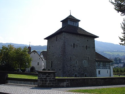 Pfäffikon Castle, one of the castles built by outside landlords to control their lands in Schwyz