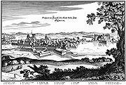 Schwerin, Stich von Matthäus Merian von 1648 (Quelle: Wikimedia)
