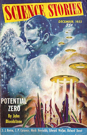Other Worlds, Universe Science Fiction, and Science Stories - The cover of the December 1953 Science Stories, by Virgil Finlay