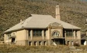 Scofield, Utah - Historic Scofield Utah School building