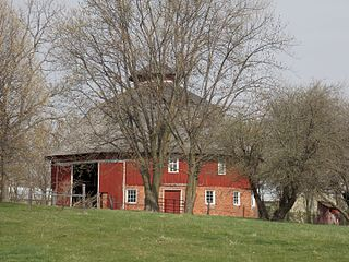 "Nebergall ""Knoll Crest"" Round Barn United States historic place"