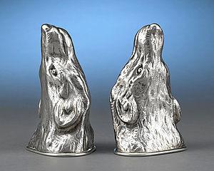 Stirrup cup - Scottish silver stirrup cups, Hallmarked Edinburgh, 1917