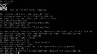 GNU Hurd Operating system kernel designed as a replacement for Unix