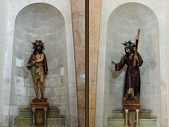 Church of the Condemnation - Image: Sculptures of Jesus at Church of the Condemnation and Imposition of the Cross