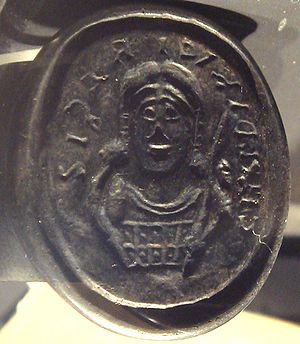 Salian Franks - Image: Seal of Childeric I Tournai tomb