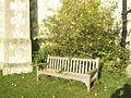 Seat in the churchyard at St John the Baptist, Greatham - geograph.org.uk - 1530952.jpg