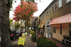Madison Valley, Seattle - Shops along East Madison Street in Madison Valley