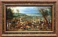 Sebastian vrancx (bottega) e paesaggio attr. a jan brughel il giovane, scena di saccheggio dopo una battaglia.JPG