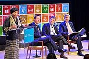 Secretary Kerry Listens as Liberian President Sirleaf Addresses the Post-2015 Development Panel Discussion in New York City (21582539498)