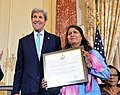 Secretary Kerry Poses for a Photo With a 2016 TIP Report Hero Award Recipient Syeda Ghulam Fatima of Pakistan in Washington (27965770286).jpg