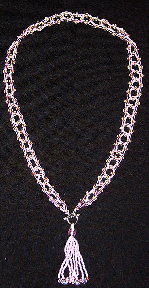 Seed bead - A necklace made from seed beads.