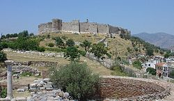 The grand Byzantine fortress of Selçuk on Ayasoluk Hill