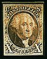 Selo postal, Estados Unidos, 1847.jpg
