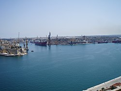 Cospicua, with Senglea at far left
