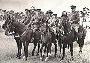 Group of senior military officers on horseback