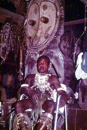 Sepik - Image: Sepik River chief 1975