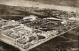 """Sesquicentennial Exposition - """"Bird's Eye"""" view of the 1926 Sesqui-Centennial Exposition Grounds"""