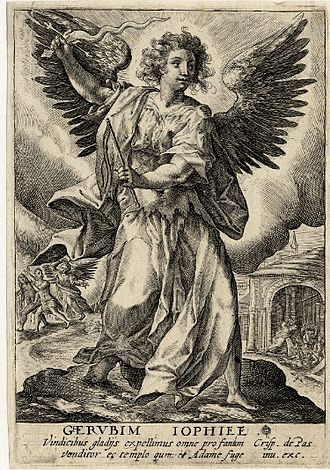 Jophiel - Engraving of the angel Jophiel, ca. 1590–1637