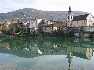 Seyssel, Haute-Savoie - The village seen from the West