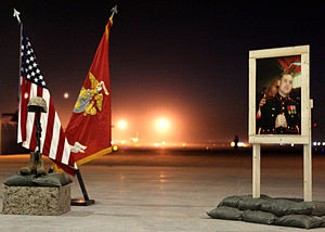 September 2012 Camp Bastion raid - Sergeant Atwell Memorial