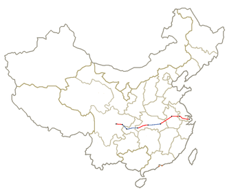 Shanghai–Wuhan–Chengdu high-speed railway - Image: Shanghai Chengdu Line