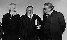 K Chesterton George Bernard Shaw , Hilaire Belloc , and G. K. Chesterton.