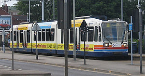 Sheffield Supertram in Sheffield UK