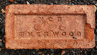 National Coal Board - Brick made at NCB Sherwood