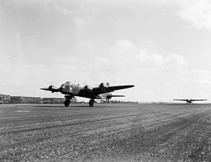 No. 295 Squadron RAF - A Short Stirling bomber taking off from RAF Harwell, Oxfordshire with a Horsa glider in tow – Operation Market-Garden, 17 September 1944