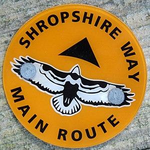 Shropshire Way - New Shropshire Way waymark on The Wrekin
