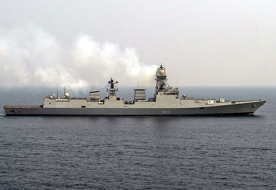 Sideview of INS Kolkata (D63)