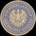 Siegelmarke Der K. Landrat des Kreises Bitburg W0391652.jpg